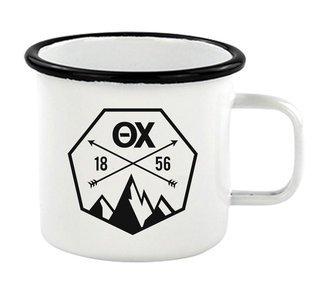 Theta Chi Metal Camping Mug