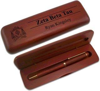 Zeta Beta Tau Wooden Pen Set