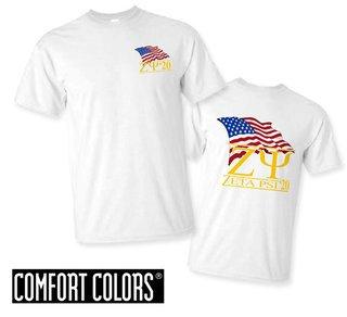 Zeta Psi Patriot  Limited Edition Tee - Comfort Colors