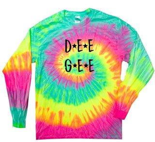 Delta Gamma Starry Night Rainbow Tie Dye Long Sleeve Tee