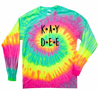 Kappa Delta Starry Night Rainbow Tie Dye Long Sleeve Tee