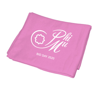 Phi Mu Mascot Sweatshirt Blanket