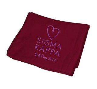 Sigma Kappa Mascot  Sweatshirt Blanket