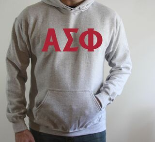 Alpha Sigma Phi letter Hoodie