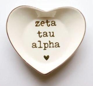 Zeta Tau Alpha Ceramic Ring Dish
