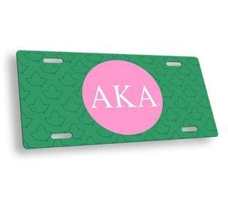 Alpha Kappa Alpha Mascot License Plate