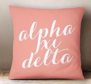Alpha Xi Delta Script Pillow