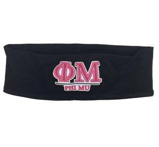 Phi Mu Cotton Stretch Headband