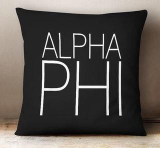 Alpha Phi Simple Pillow