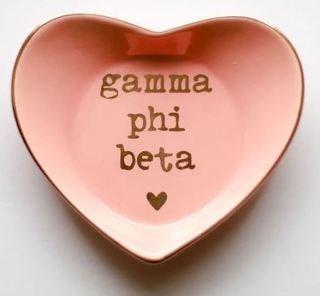 Gamma Phi Beta Ceramic Ring Dish
