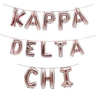 Kappa Delta Chi Banner Balloon Set