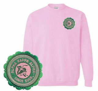 DISCOUNT-Alpha Kappa Alpha Patch Seal Sweatshirt