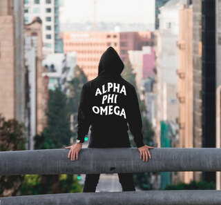Alpha Phi Omega Social Hooded Sweatshirt