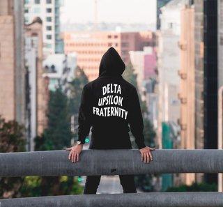 Delta Upsilon Social Hooded Sweatshirt