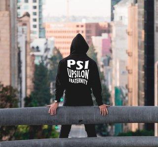 Psi Upsilon Social Hooded Sweatshirt