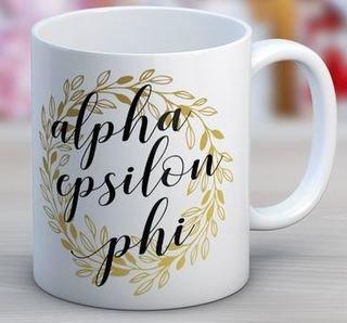 Alpha Epsilon Phi Wreath Coffee Mug