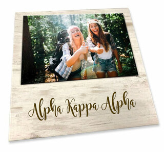 Alpha Kappa Alpha Sorority Script Block Frame