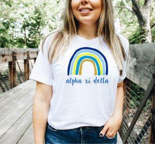 Alpha Xi Delta Rainbow Tee