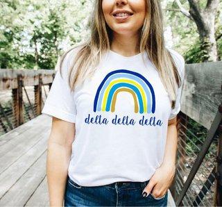 Delta Delta Delta Rainbow Tee