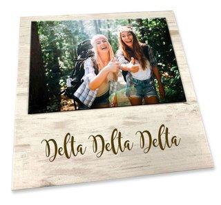 Delta Delta Delta Sorority Script Block Frame