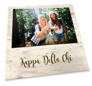 Kappa Delta Chi Sorority Script Block Frame