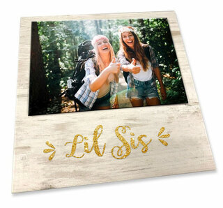 Little Sister Sorority Script Block Frame