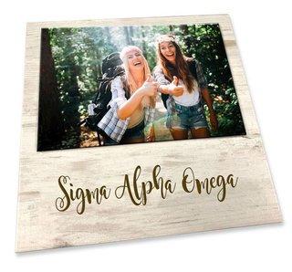 Sigma Alpha Omega Sorority Script Block Frame