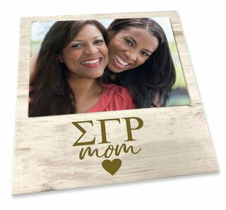 """Sigma Gamma Rho White 7"""" x 7"""" Faux Wood Picture Frame"""