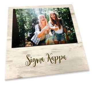 Sigma Kappa Sorority Script Block Frame