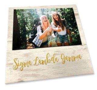 Sigma Lambda Gamma Sorority Golden Block Frame