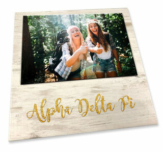"Sorority WHITE 7"" X 7"" OFFSET FAUX WOOD PHOTO FRAME"