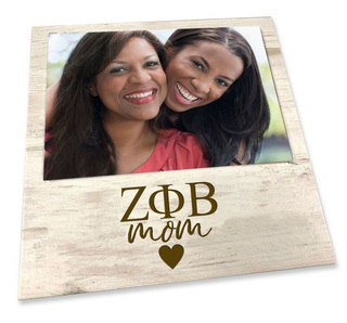 "Zeta Phi Beta White 7"" x 7"" Faux Wood Picture Frame"