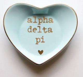 Alpha Delta Pi Ceramic Ring Dish