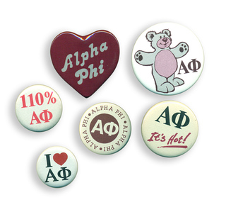 Alpha Phi Sorority Buttons 6-Pack