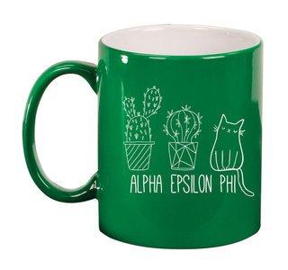 Alpha Epsilon Phi Purrrfect Sorority Coffee Mug