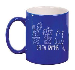 Delta Gamma Purrrfect Sorority Coffee Mug
