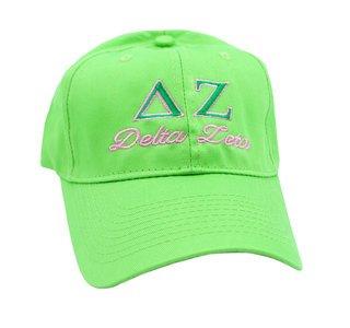 Delta Zeta Script Cap