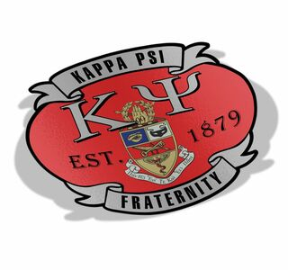 Kappa Psi Banner Crest - Shield Decal