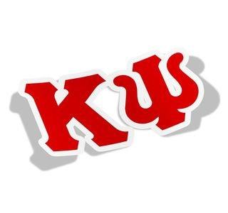 Kappa Psi Big Greek Letter Window Sticker Decal
