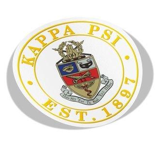 Kappa Psi Circle Crest - Shield Decal