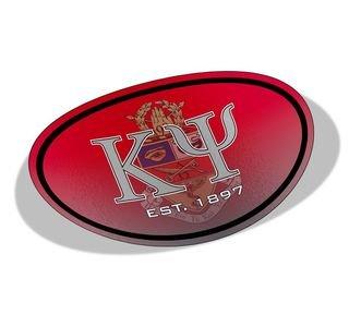 Kappa Psi Color Oval Decal