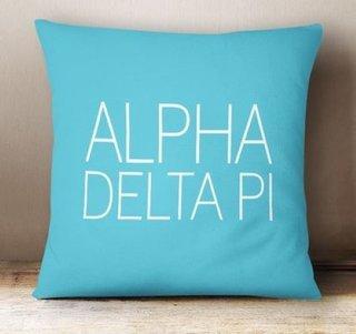Alpha Delta Pi Simple Pillow