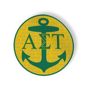 Alpha Sigma Tau Mascot Round Decals