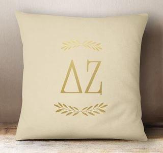 Delta Zeta Foil Letters Pillow