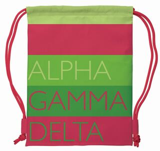 Alpha Gamma Delta Drawstring Backpack