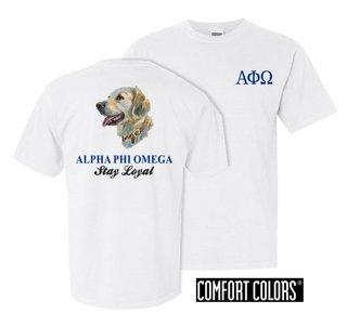 Alpha Phi Omega Stay Loyal Comfort Colors T-Shirt