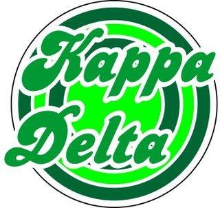Kappa Delta Retro Round Decals