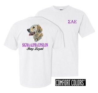 Sigma Alpha Epsilon Stay Loyal Comfort Colors T-Shirt
