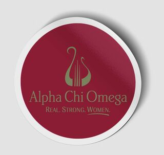 Alpha Chi Omega Logo Round Decal