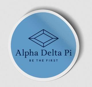 Alpha Delta Pi Logo Round Decal